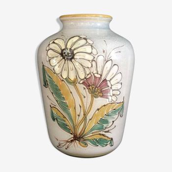 Viêt nam vase de forme pansue en grès émaillé de bien hoa céladon flore début xx