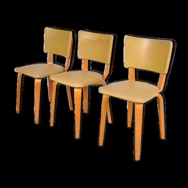 Selency Série de trois chaises Cornelius Louis Alon années 50