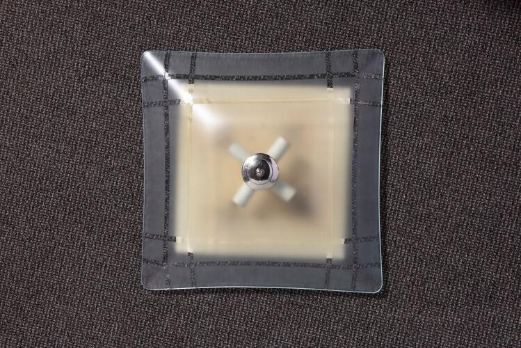 Paire d'appliques en verre sablé