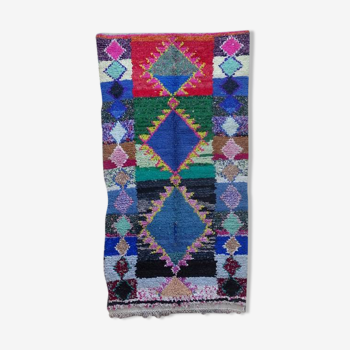 Tapis marocain berbère authentique boucherouite 200x110cm