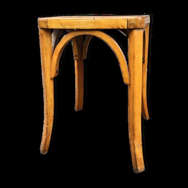 Tabouret bois courbé 1950 bentwood Footstool Baumann