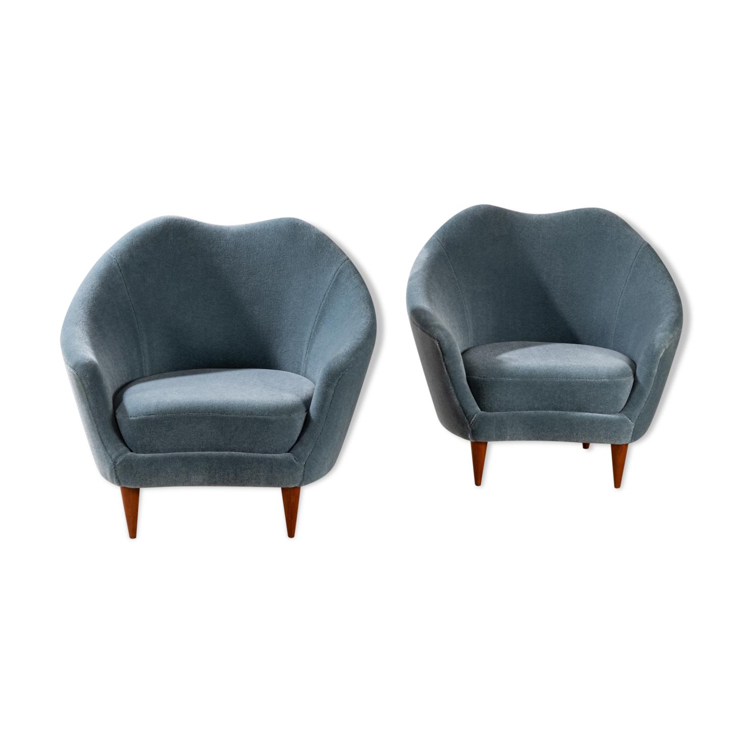 Paire de fauteuils de Federico Munari, Italie vers 1960