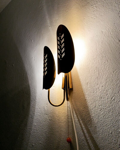 Lampe murale en laiton