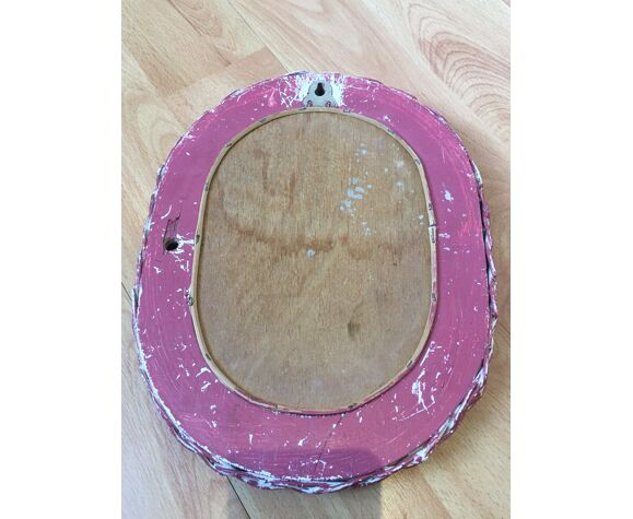 Miroir en rotin 23x30cm