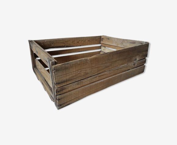 Ancienne caisse de pommes en bois vintage