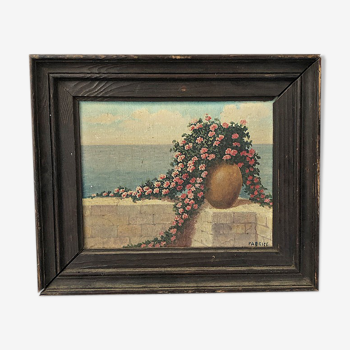 Peinture à l'huile fleurs