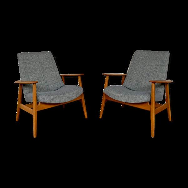 Paire de fauteuils SK670 par Pierre Guariche 1950/1960