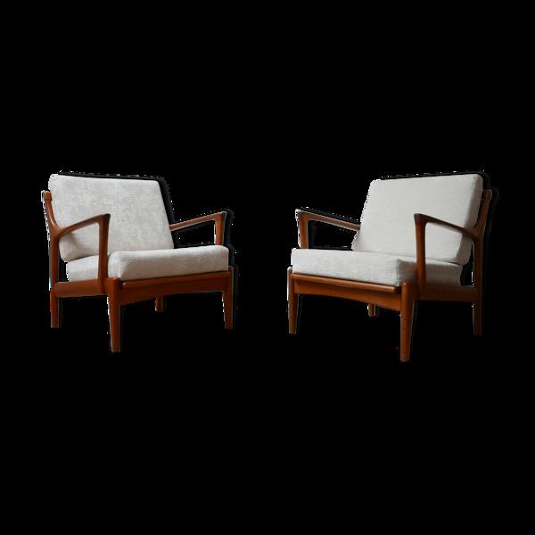 Paire de fauteuils «Kuba» de Bertil Fridhagen