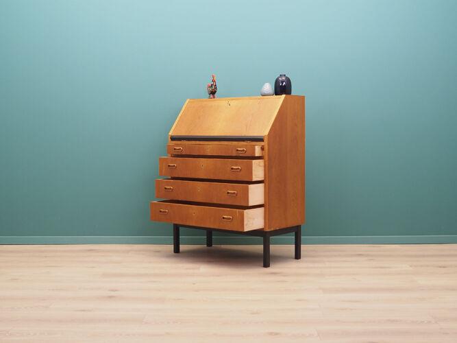 Secrétaire en chêne, design danois, années 60, Danemark