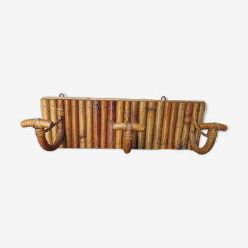 Bamboo coat holder, 70s