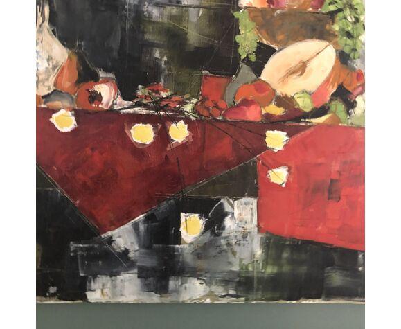 """Tableau """" La Table aux Fruits Dolbeau """" 1959"""