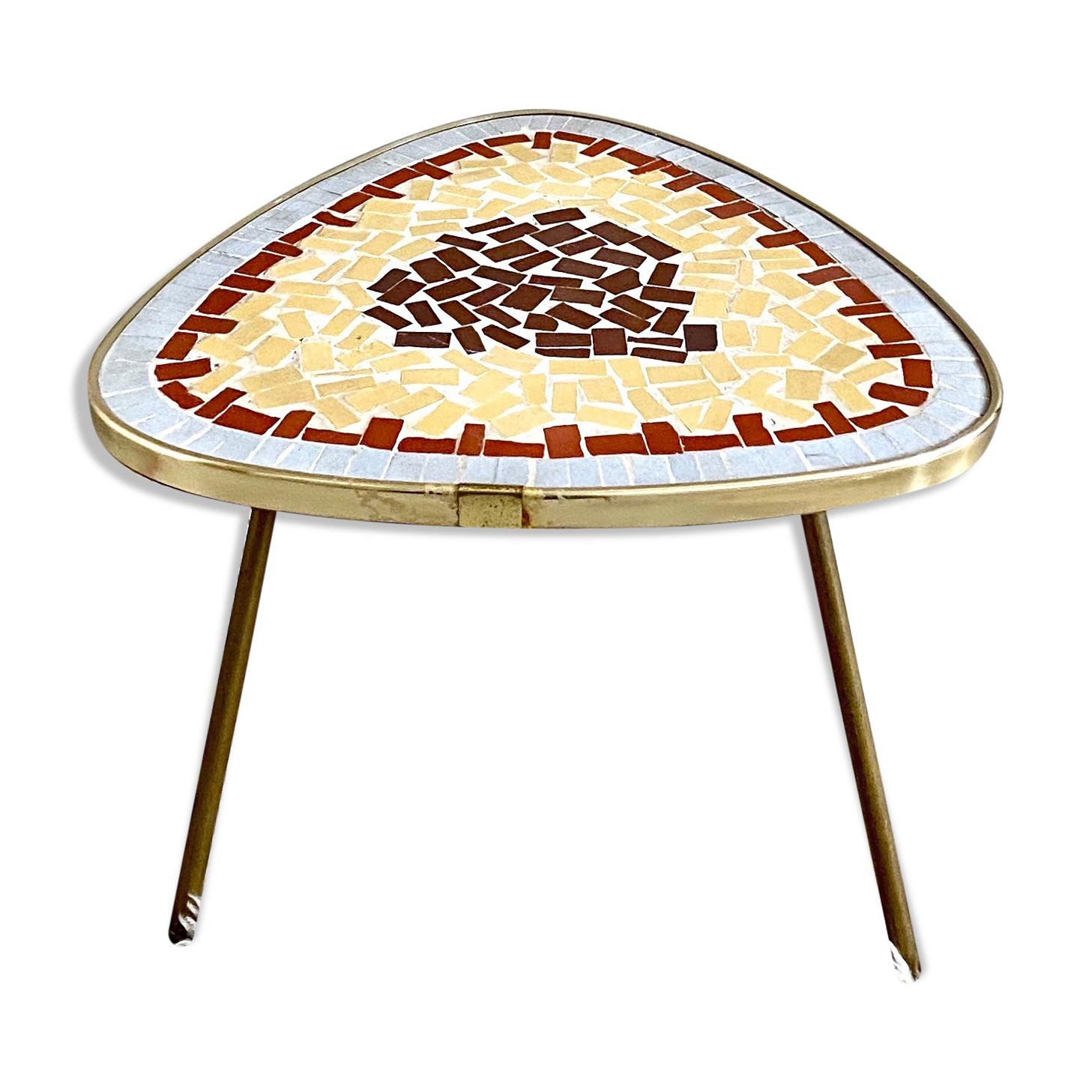 Table en mosaïque vintage