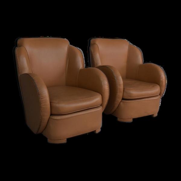 Selency Paire de fauteuils art déco type paquebot