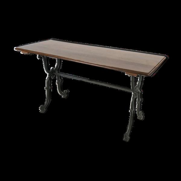 Selency Table de bistrot en fonte et bois