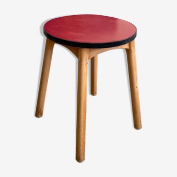 Table d'appoint bois et formica années 50-60