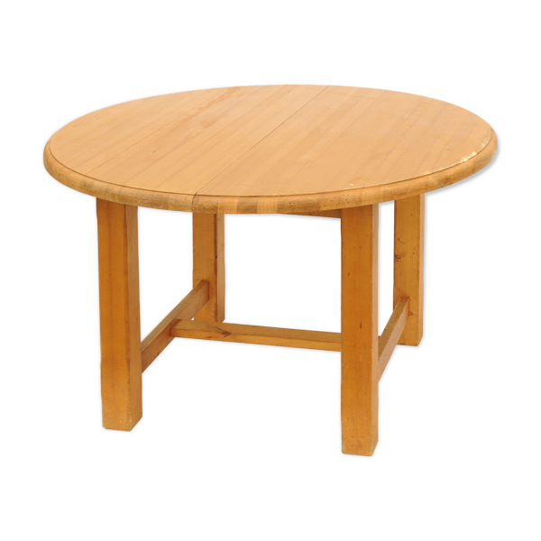 Table ronde en pin