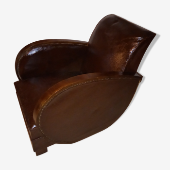 Fauteuil clubs art deco cuir