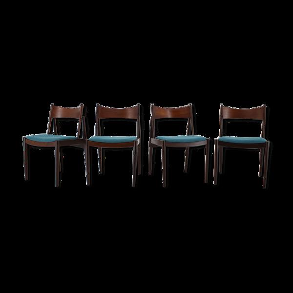 Lot de 4 chaises par Vamo, Danemark 1960