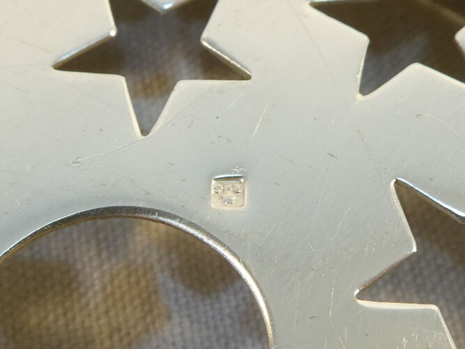 Seau à glace en metal argenté
