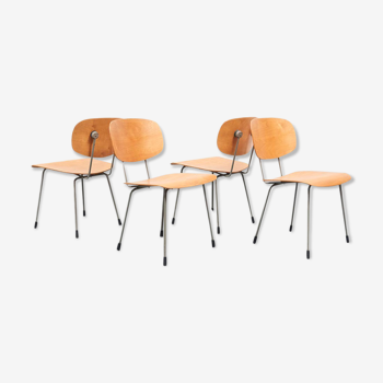 Set 4 chaises 116 de Wim Rietveld pour Gispen