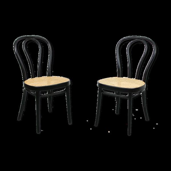 Selency Chaises noir No. 218 design Michael Thonet, édition inconnue