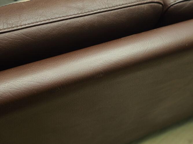 Canapé cuir, design danois, années 70