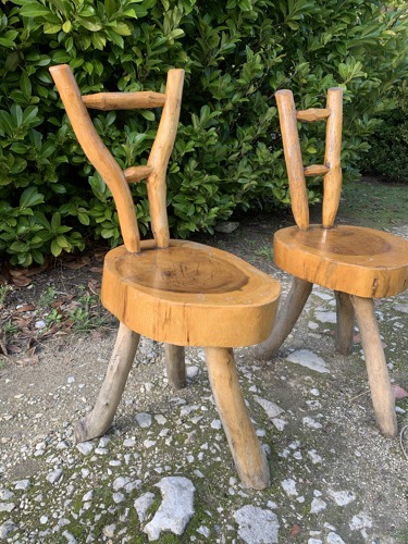 Ensemble de 6 chaises brutaliste