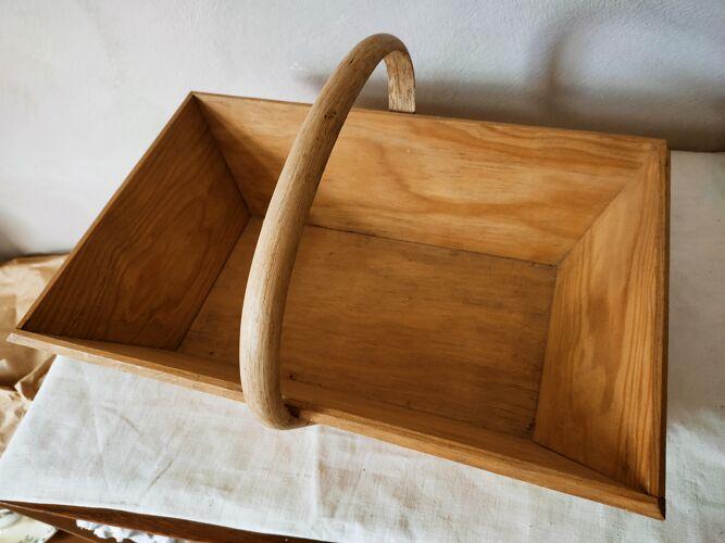 Panier de cueillette en bois