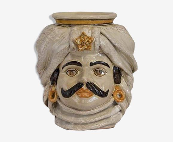 Vase turban beige homme