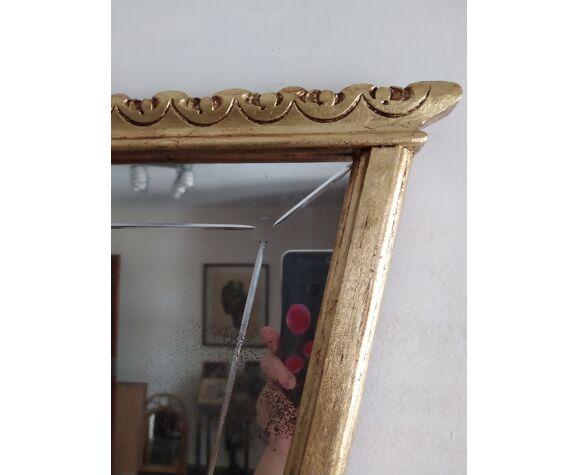 Miroir classique doré
