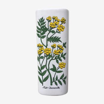 Vase mural camomille
