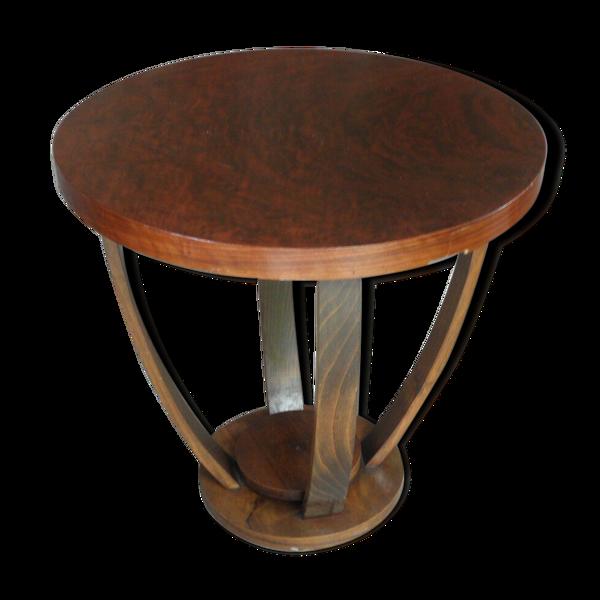 Selency Table basse en bois art déco