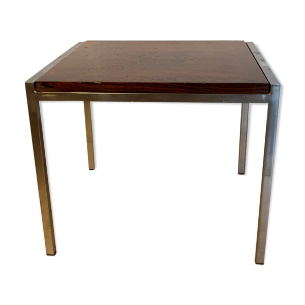 Table d'appoint chrome rosewood
