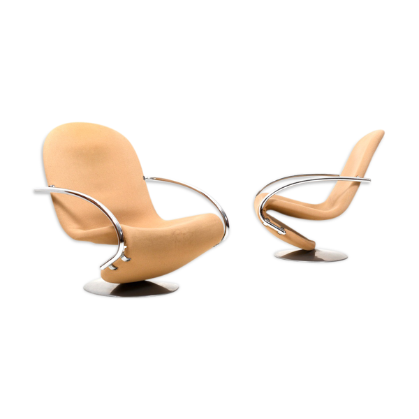 Selency Paire de fauteuils 1-2-3 par Verner Panton