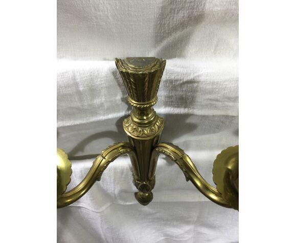 Paire d'applique en bronze st Louis XVI