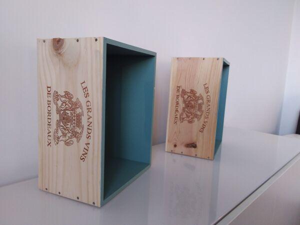 Set de 2 caisses à vins relookées