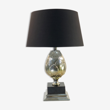 Lampe artichaut en métal chromé vintage 60/70