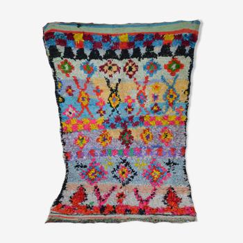Berber carpet boucherouite 210 x 128 cm