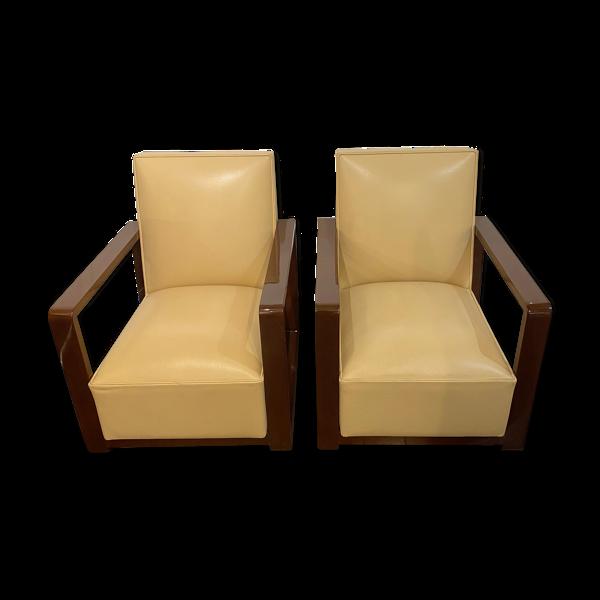 Paire de fauteuils art deco