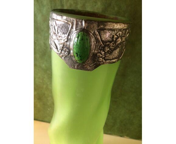 Vase pâte de verre art nouveau