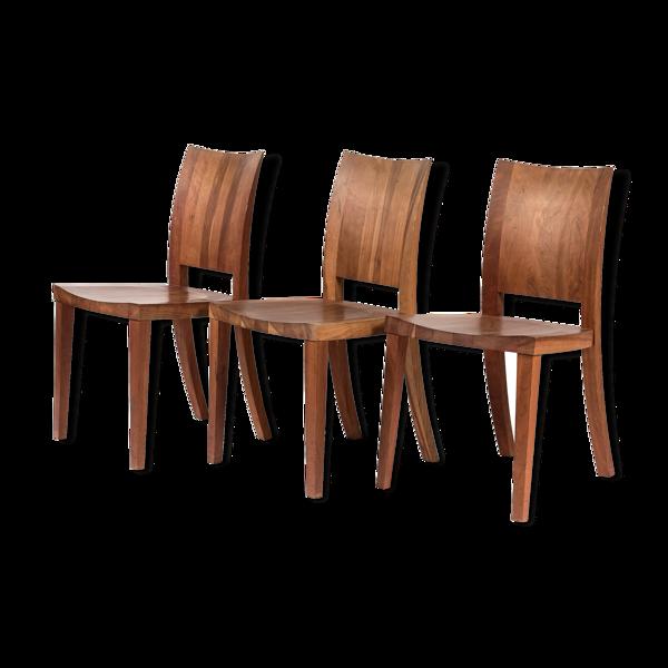 Suite de trois chaises modèle Pimpinella wood fabriquées par Riva 1920 en 2002