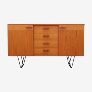 Buffet en teck, design danois, années 1970, Danemark