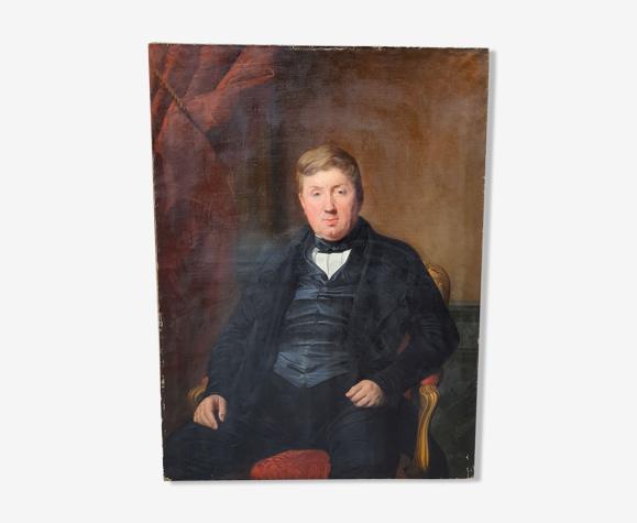 Portrait XIXème 130 cm
