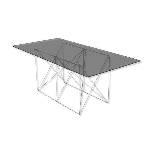 Table à manger minimaliste du milieu du siècle par Max Sauze 1970