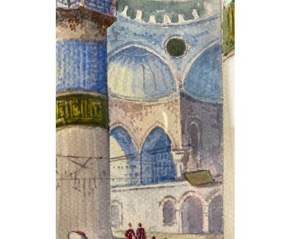 Tableau ancien , école orientaliste, signé Shérif , début XX siècle
