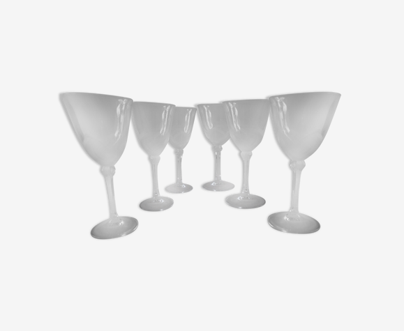 6 verres à vin en cristal dans leurs coffret – JG Durand, collection florence «satine» 18 cl
