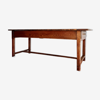 Table de ferme ancienne 2 tiroirs