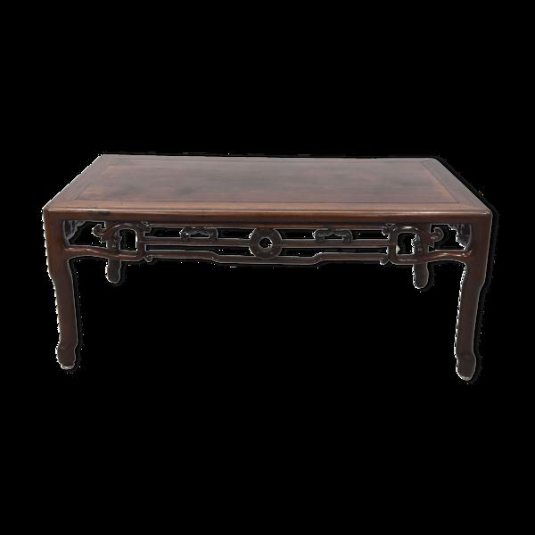 Table à opium bandeau ajouré début XXème