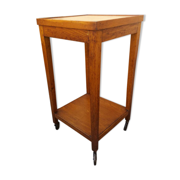 Table desserte roulante en bois