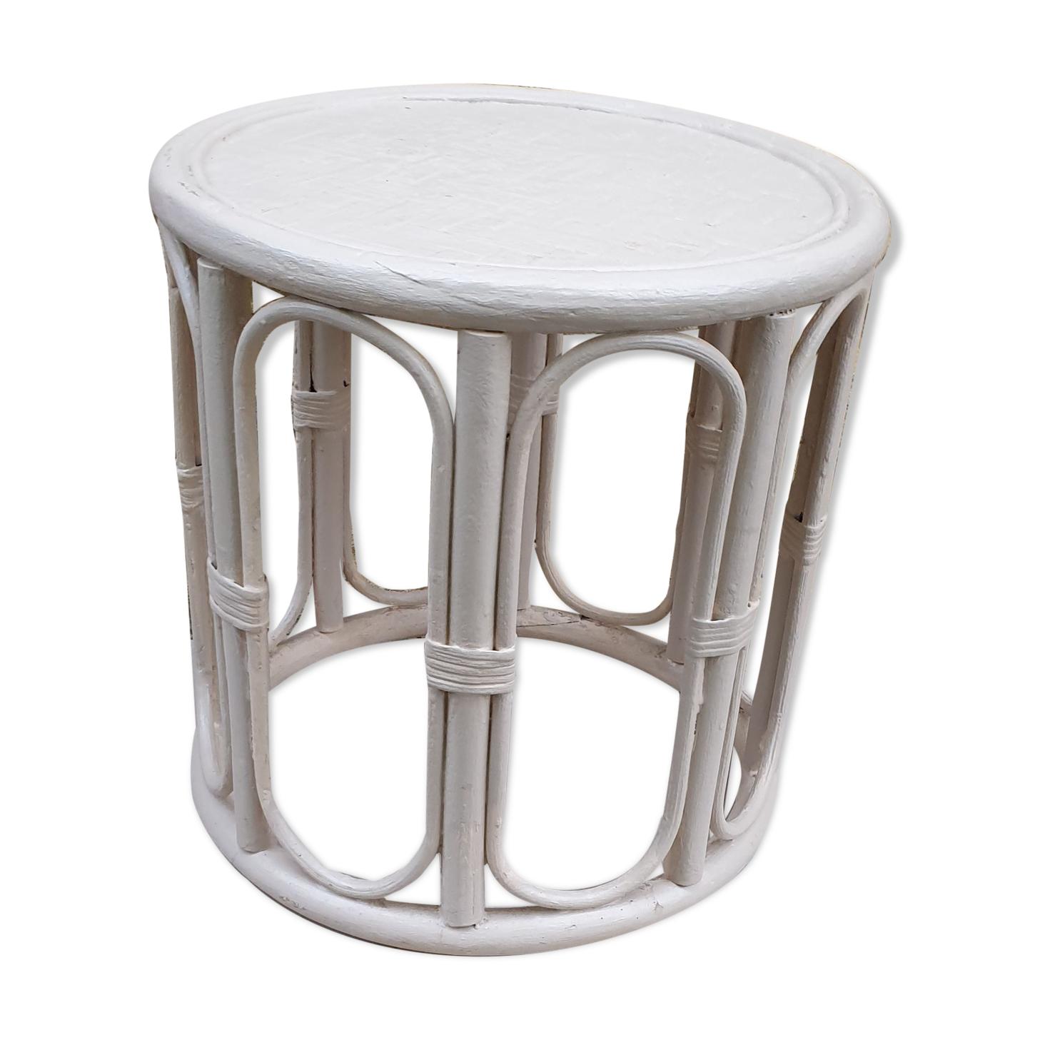 Table d'appoint, bout de canapé canne de bambou